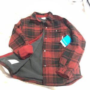 NWT Columbia Windward shirt / jacket with fleece